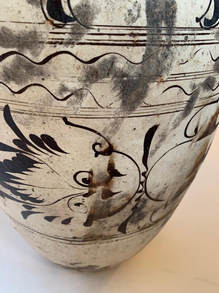 Ceramic Striking Large Cizhou Ware Vessel Vase For Sale