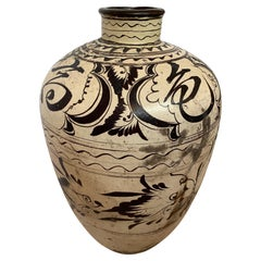 Striking Large Cizhou Ware Vessel Vase