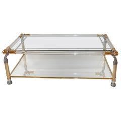 Striking Lucite Hollywood Regency Style Coffee Table