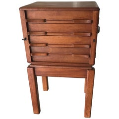 Striking Mid-Century Modern Documents Cabinet / Wellington Chest of Drawers