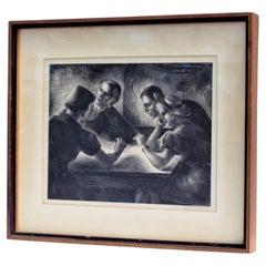 Lithograph by Alice Harold Murphy, Circa 1940