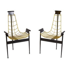 Striking Pair of Original Midcentury Katavolos T Armchairs 1955