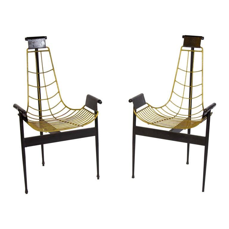 William Katavolos T armchairs, 1955, offered by Galleria Veneziani