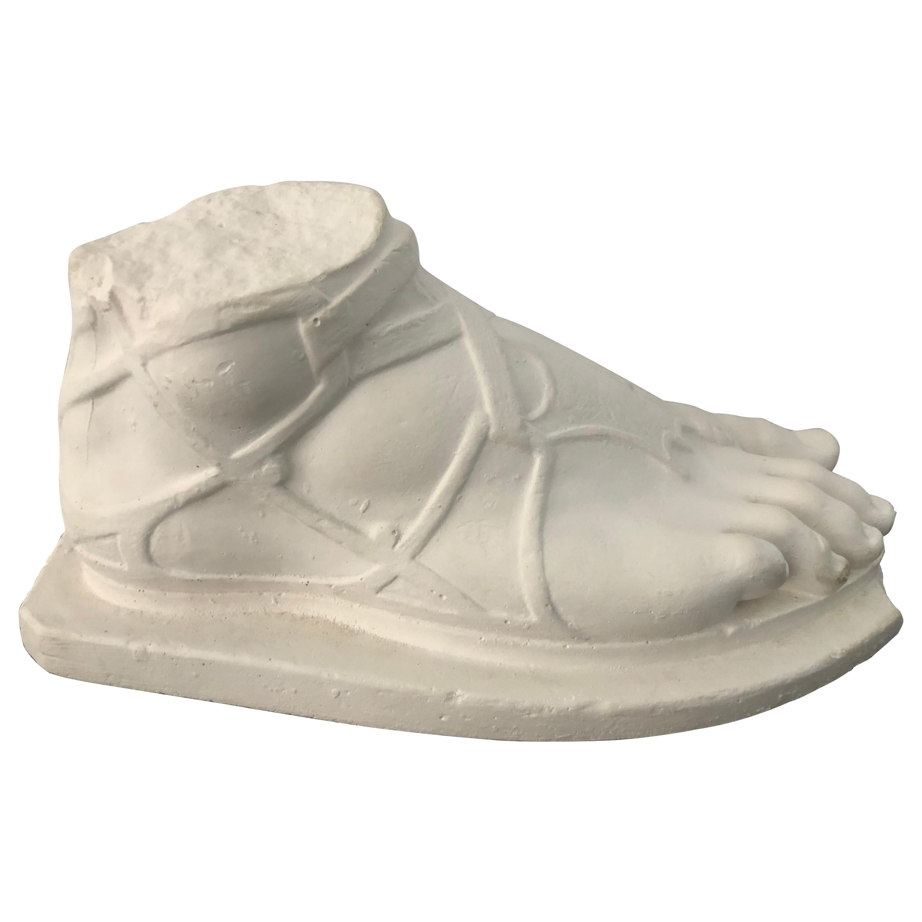 Striking Plaster Sculpture of Hermes Foot
