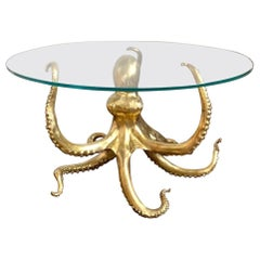 Striking Sculptural Octopus Gilt Bronze Center or Dining Table