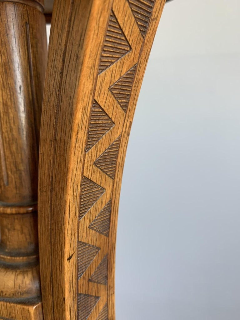 Striking & Top Quality Made Wooden Viennese Secession Pedestal / Sculpture Stand For Sale 11