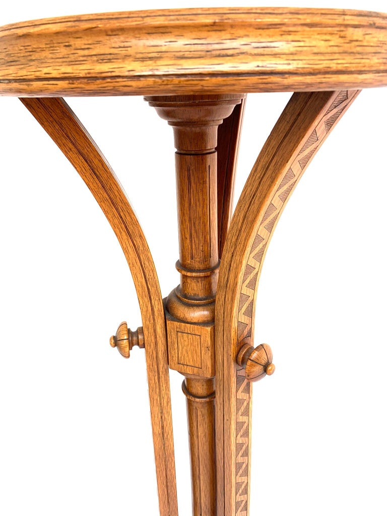 Vienna Secession Striking & Top Quality Made Wooden Viennese Secession Pedestal / Sculpture Stand For Sale