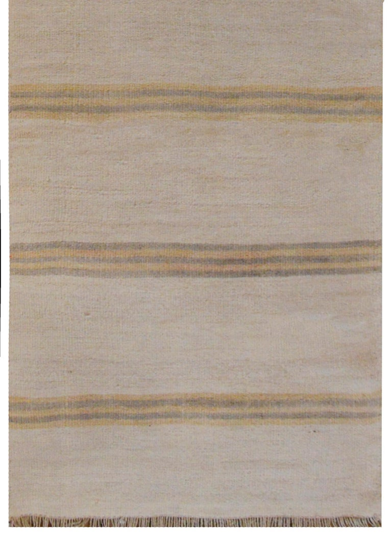 Striking Turkish Kilim Runner In Good Condition For Sale In Chicago, IL