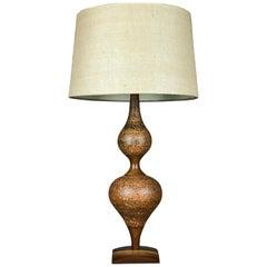 Striking Walnut and Ceramic Genie Lamp