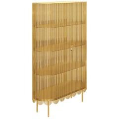Strings Storage Cabinet Gold by Nika Zupanc