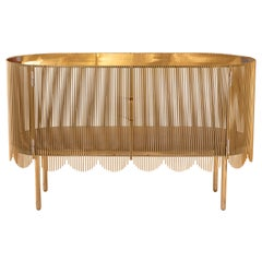 Strings Credenza Sideboard Gold by Nika Zupanc