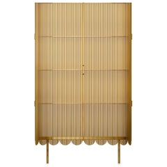 Strings Storage Cabinet Gold by Nika Zupanc