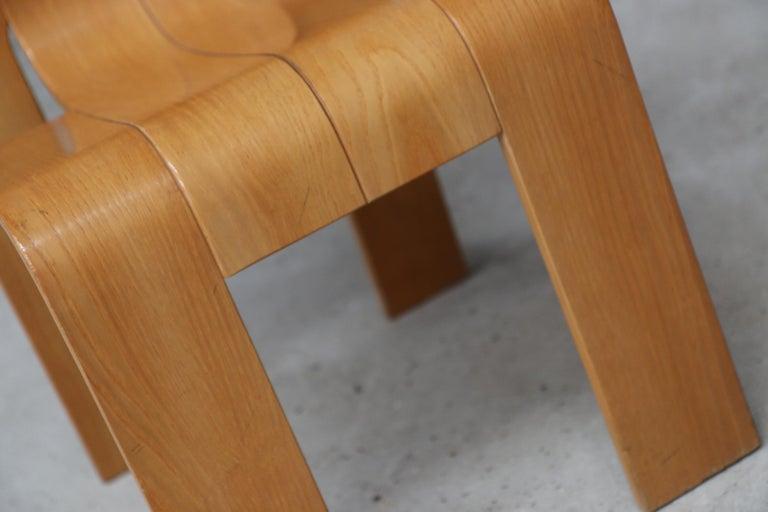 Strip Chair Set of 6 by Gijs Bakker 4
