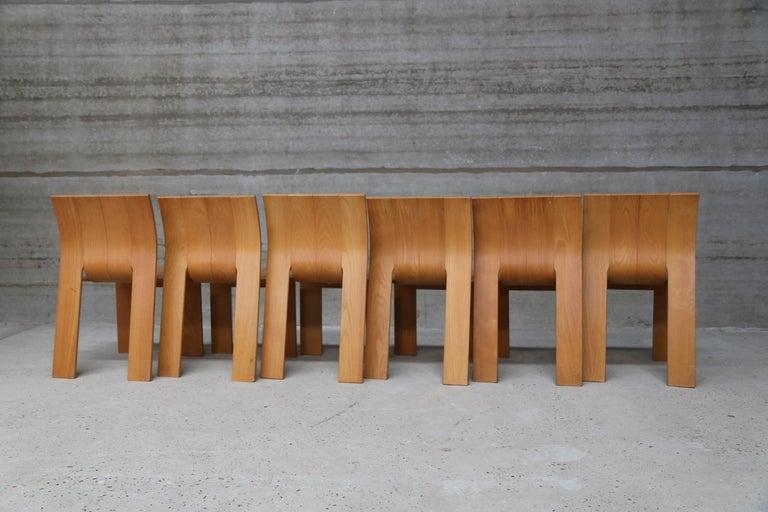 Dutch Strip Chair Set of 6 by Gijs Bakker