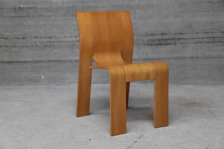 20th Century Strip Chair Set of 6 by Gijs Bakker