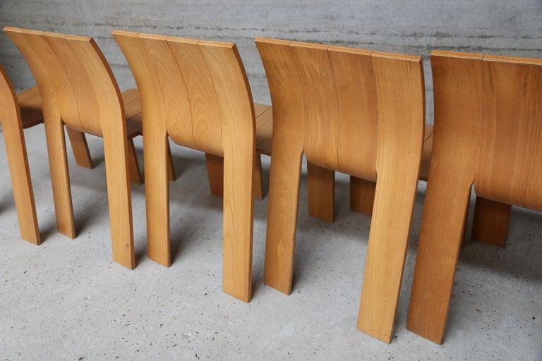 Strip Chair Set of 6 by Gijs Bakker 1