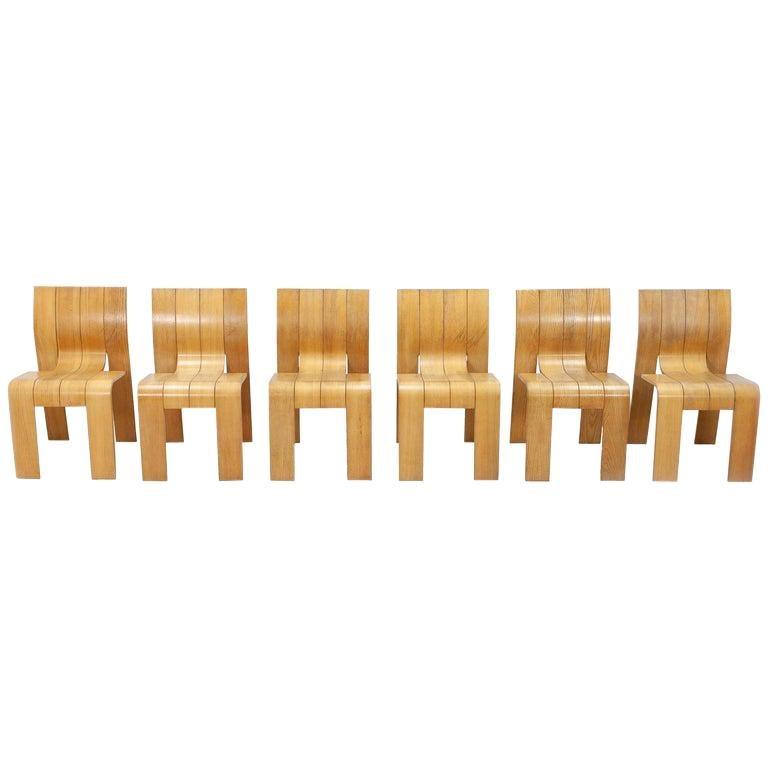 Strip Chair Set of 6 by Gijs Bakker