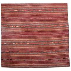 Striped Antique Rugs Azerbaijan Wool Jajim Handmade Carpet Textile