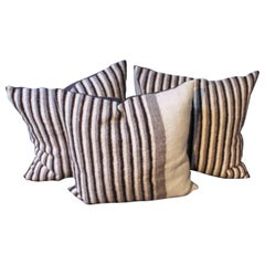 Striped Indian Weaving Pillows Collection of 3