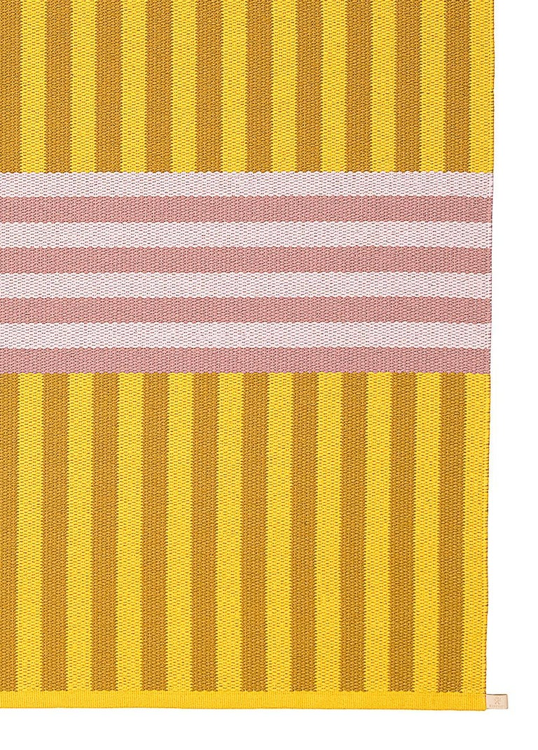 Swedish Striped, Limited-Edition, Pink and Yellow Woven Rug by Sight Unseen for Kasthall For Sale