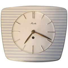 Striped Mechanical Ceramic Wall Clock by Mauthe, Germany