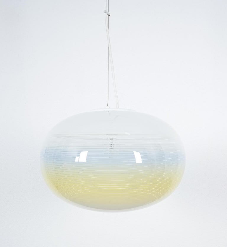 Large Muranoglass sphere light, Italy, probably circa 1970  Well-sized 18.9