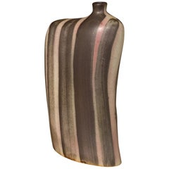 Striped Pattern Glazed Vase, China, Contemporary