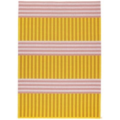 Striped Pink and Yellow 9x12 Woven Wool Rug by Sight Unseen for Kasthall