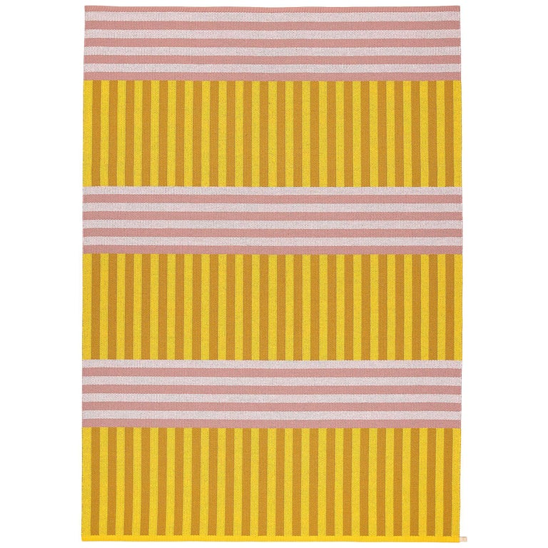 Striped Pink and Yellow 6x9 Woven Wool Rug by Sight Unseen for Kasthall For Sale