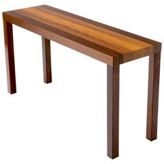 Striped Rosewood Console Table Attributed to Milo Baughman