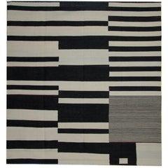 Striped Rug, Kilim Rugs Carpet from Afghanistan, Modern Striped Kilim Rugs,