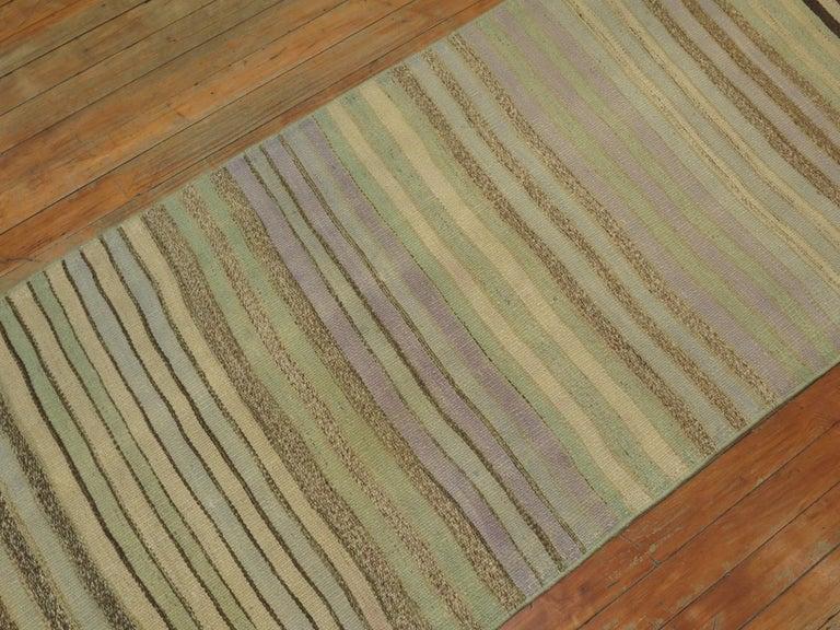 Striped Turkish Kilim Runner For Sale 1