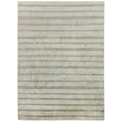 Stripes in Shades of Dark Gray Custom Rug