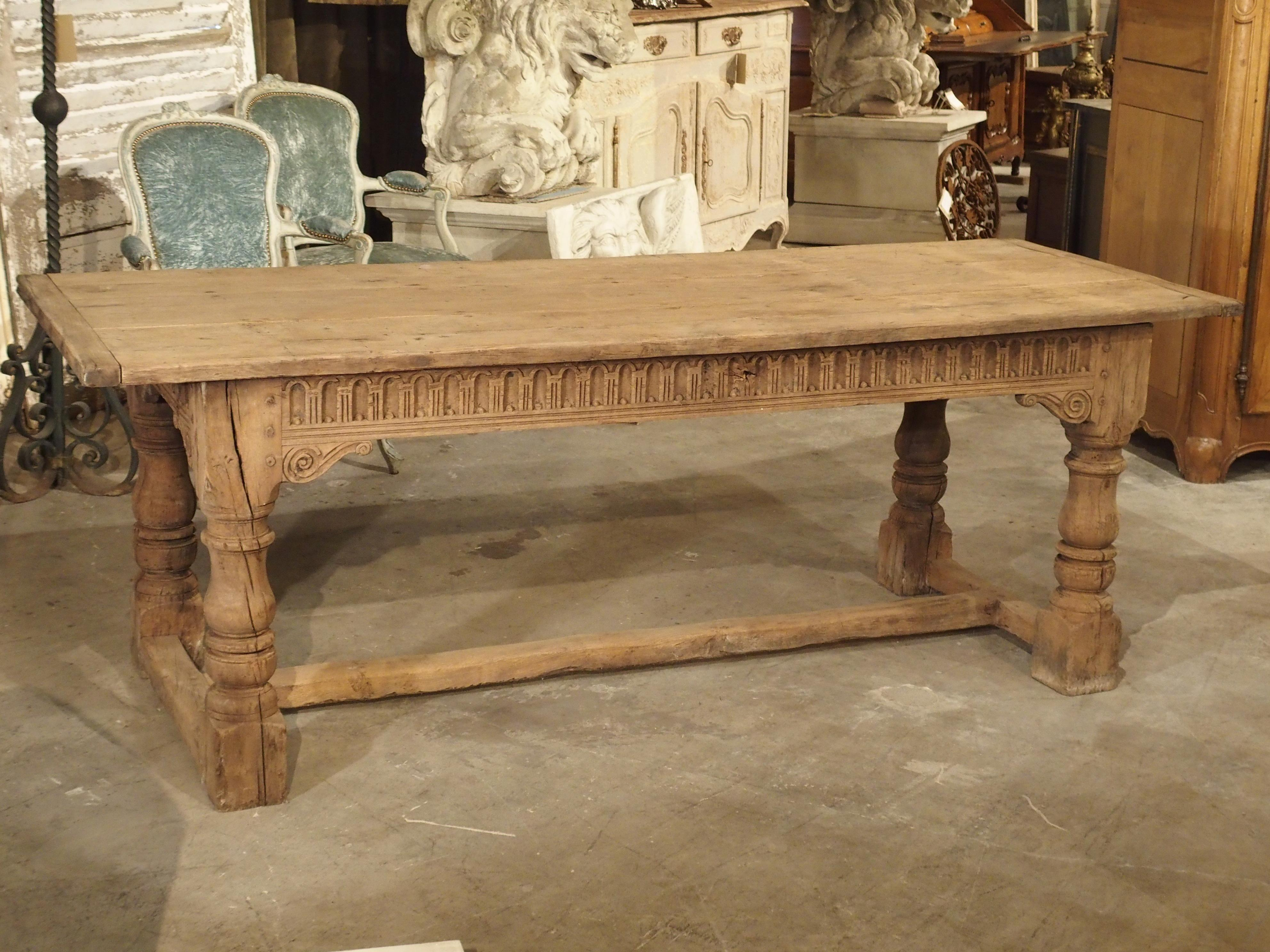 Tremendous Stripped Antique Oak Jacobean Style Refectory Table From Ibusinesslaw Wood Chair Design Ideas Ibusinesslaworg