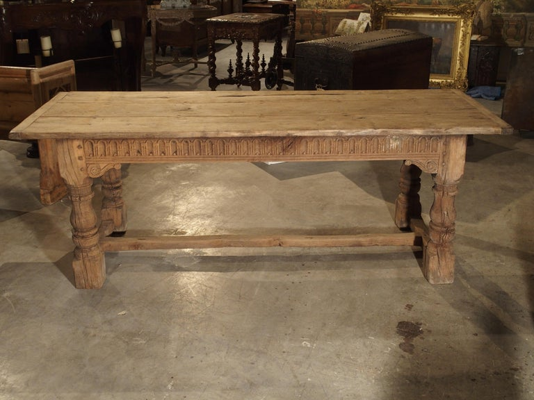 Tremendous Stripped Antique Oak Jacobean Style Refectory Table From England 19Th Century Ibusinesslaw Wood Chair Design Ideas Ibusinesslaworg