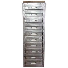 Stripped Metal 10-Drawer Engineers Workshop Cabinet Storage Cabinet Haberdashery