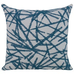 Strobelite Pillow in Teal and White by CuratedKravet