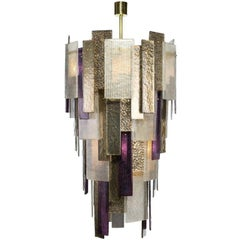 Stromboli Chandelier with Murano Glass