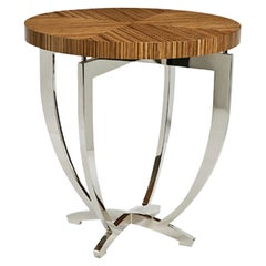 Stromboli Occasional Table with Wooden Top by Powell & Bonnell