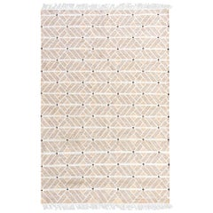 Strong but Soft Customizable Helden Weave Rug in Sand Small