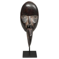 Strong Cubist Dan Man Bird Wood Face Mask Early 20th Century Libera, Africa
