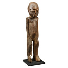 Strong Cubist Lobi Standing Figure Ghana Burkina Faso Africa, Early 20th Century