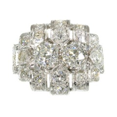 Strong Design Art Deco Platinum Diamond '2.50 Carat' Engagement Ring