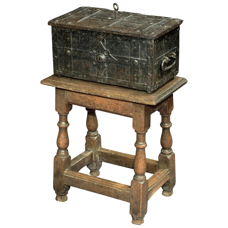 Strongbox, Mid-17th Century, Baroque, Small, Iron, United