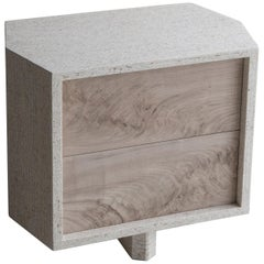 Struttura Mini Case Table in Natural Maykume & Bleached Walnut by May Furniture