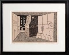 Rue des Rats, Modernist Lithograph by Stuart Davis 1928