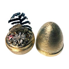 Stuart Devlin Silver Gilt Surprise Egg, London, 1978