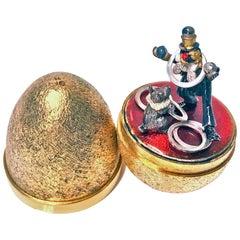 Stuart Devlin Silver Gilt Surprise Egg, London, 1980