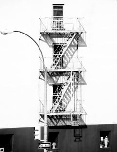 ' Fire Escape ' signed Oversize Silver Gelatin Print