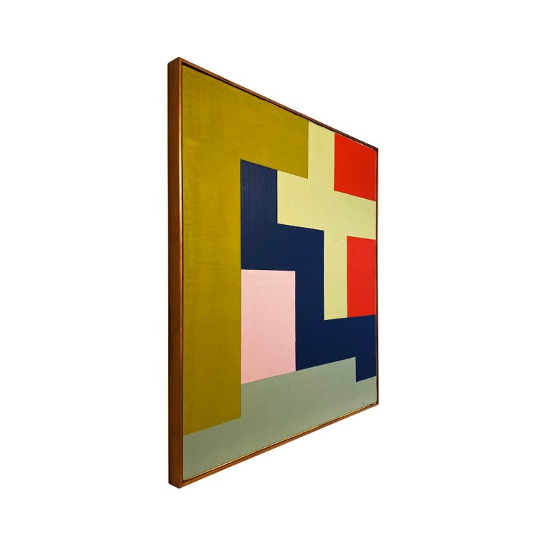 American Stuart Shedletsky - Cerrillos - 1978 - Framed Painting For Sale